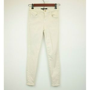 J BRAND 23 Jeans Capri Mid Rise Tan Stretch Skinny
